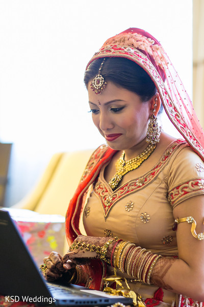 Getting Ready in Woodcliff Lake, NJ Indian Wedding by KSD Weddings