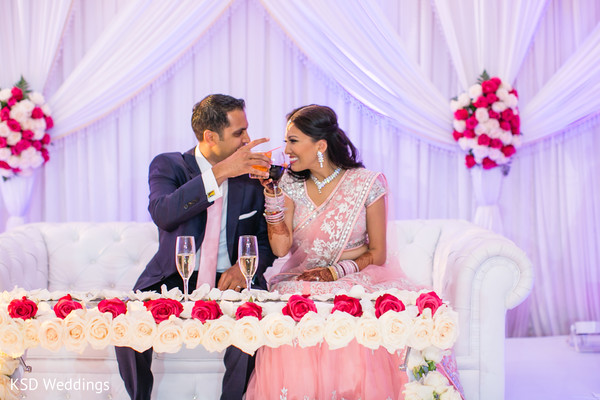 Reception in Woodcliff Lake, NJ Indian Wedding by KSD Weddings