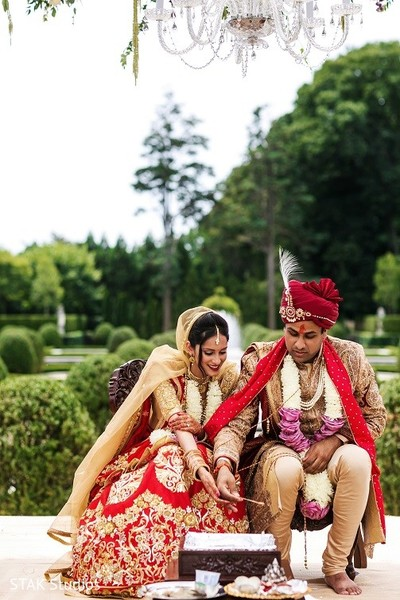 Ceremony in Huntington, New York Indian Wedding by STAK Studios