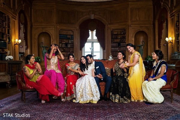 Reception in Huntington, New York Indian Wedding by STAK Studios