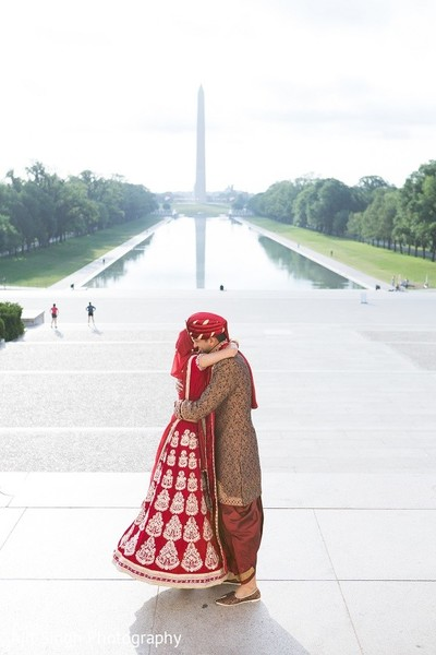 First Look in Washington, D.C. Indian Wedding by Ajit Singh Photography