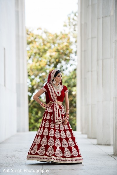 Bridal Portrait in Washington, D.C. Indian Wedding by Ajit Singh Photography