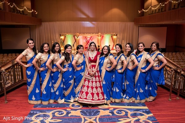 Bridal Party in Washington, D.C. Indian Wedding by Ajit Singh Photography