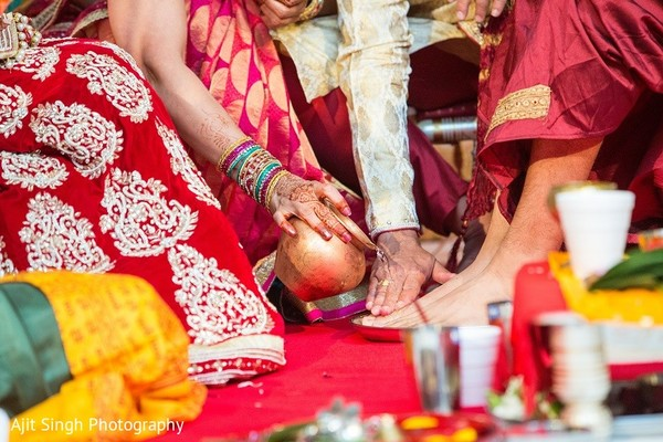 Ceremony in Washington, D.C. Indian Wedding by Ajit Singh Photography