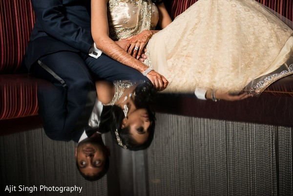 Reception Portrait in Washington, D.C. Indian Wedding by Ajit Singh Photography