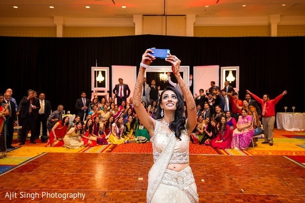 Reception in Washington, D.C. Indian Wedding by Ajit Singh Photography