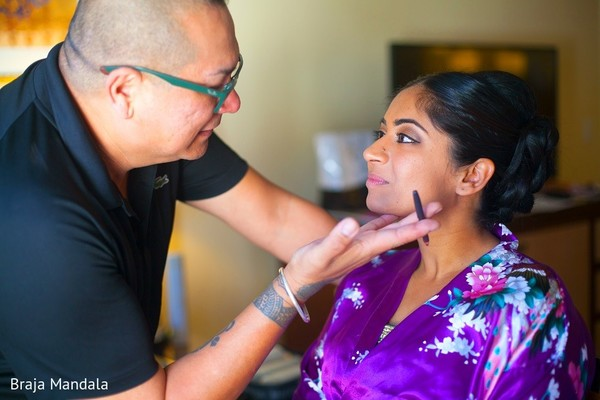 Getting Ready in Carlsbad, CA Indian Wedding by Braja Mandala Photography