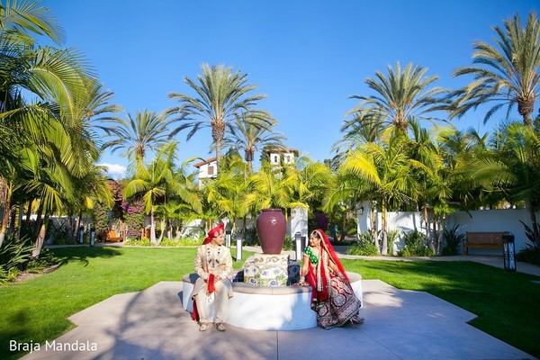 First Look in Carlsbad, CA Indian Wedding by Braja Mandala Photography