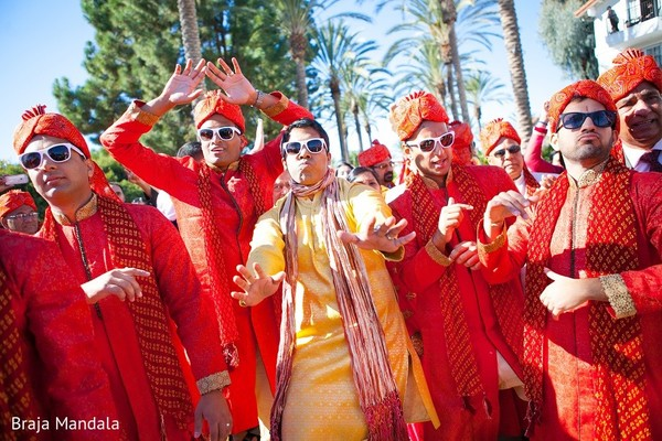Baraat in Carlsbad, CA Indian Wedding by Braja Mandala Photography