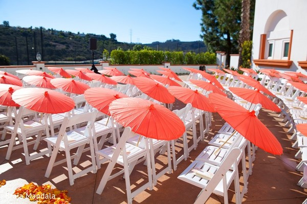 Ceremony Decor in Carlsbad, CA Indian Wedding by Braja Mandala Photography