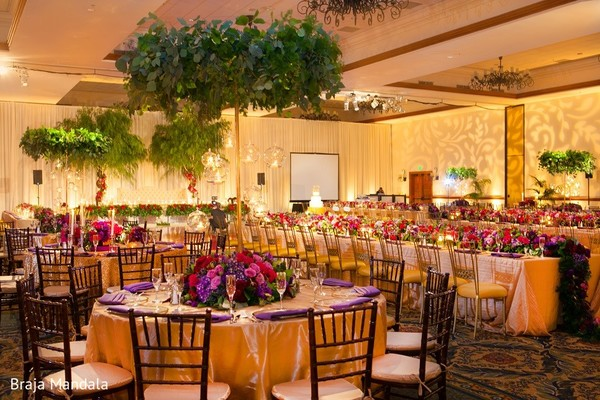 Floral & Decor in Carlsbad, CA Indian Wedding by Braja Mandala Photography