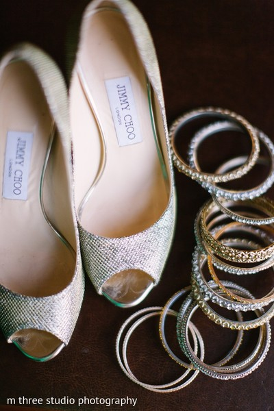 Bridal Jewelry & Shoes in Milwaukee, WI Indian Fusion Wedding by m three studio photography