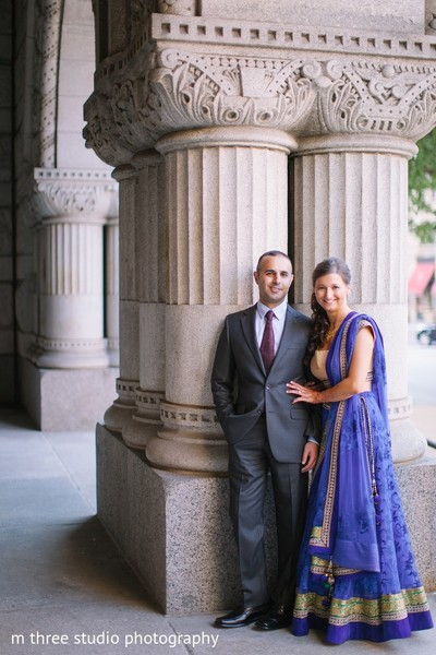 Pre-Wedding Portrait in Milwaukee, WI Indian Fusion Wedding by m three studio photography