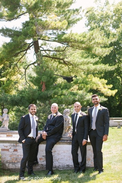 Groomsmen in Milwaukee, WI Indian Fusion Wedding by m three studio photography