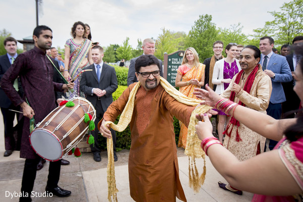 Baraat in Lake Geneva, WI Indian Fusion Wedding by Dybala Studio