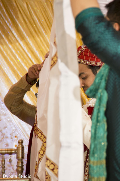 Ceremony in Lake Geneva, WI Indian Fusion Wedding by Dybala Studio