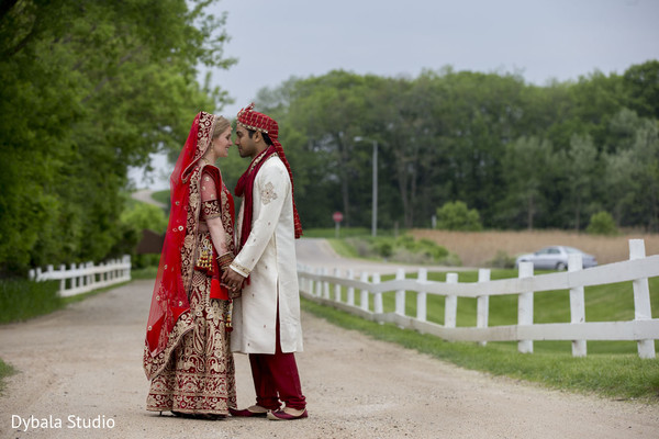 Wedding Portrait in Lake Geneva, WI Indian Fusion Wedding by Dybala Studio