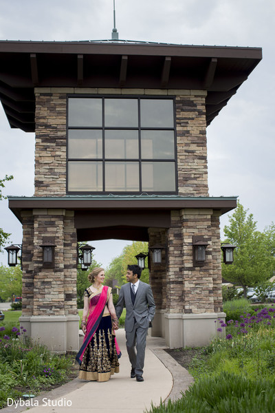 Reception Portrait in Lake Geneva, WI Indian Fusion Wedding by Dybala Studio