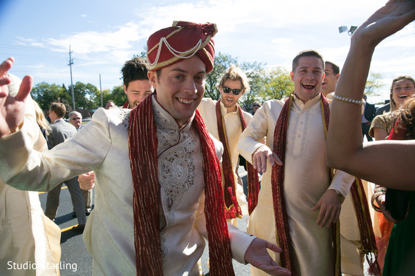 Baraat in Chicago, IL Fusion Wedding Wedding by Studio Starling