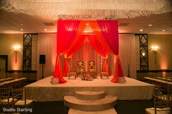 Mandap in Chicago, IL Fusion Wedding Wedding by Studio Starling