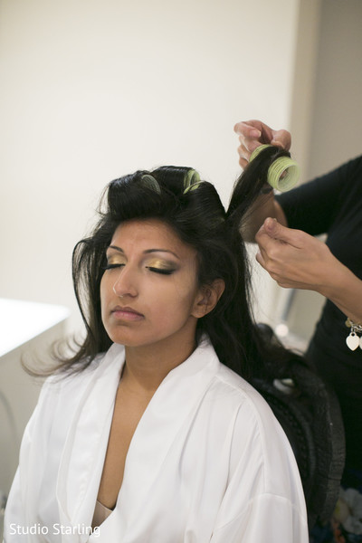 Hair and Makeup in Chicago, IL Fusion Wedding Wedding by Studio Starling