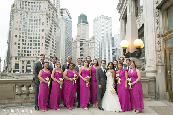 Bridal Party Portraits in Chicago, IL Fusion Wedding Wedding by Studio Starling