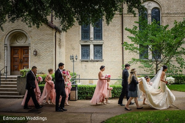 Wedding Portrait in Dallas, TX Indian Fusion Wedding by Edmonson Weddings