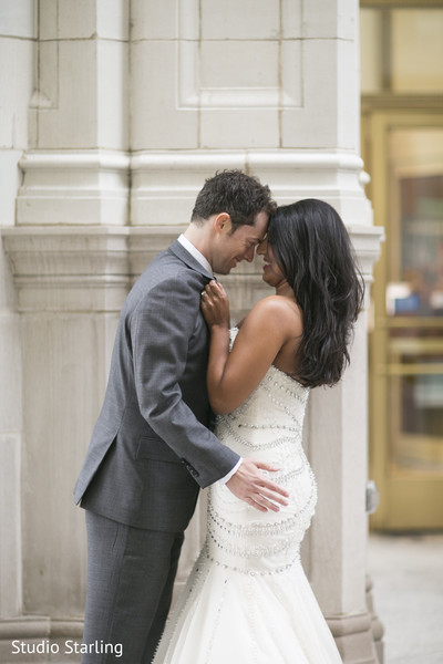 Wedding Portraits in Chicago, IL Fusion Wedding Wedding by Studio Starling