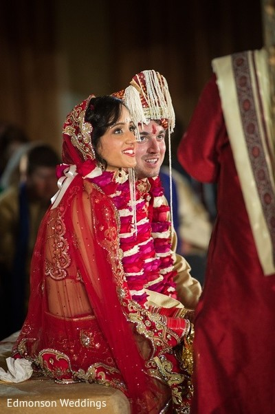 Ceremony in Dallas, TX Indian Fusion Wedding by Edmonson Weddings