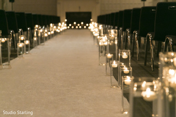 Ceremony Aisle Decor in Chicago, IL Fusion Wedding Wedding by Studio Starling