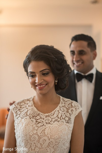 First Look in Toronto, Canada South Asian Wedding by Banga Studios