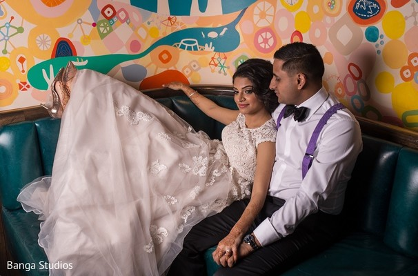 Reception Portrait in Toronto, Canada South Asian Wedding by Banga Studios