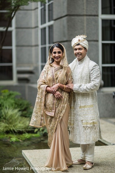 Wedding Portrait in Atlanta, GA Indian Fusion Wedding by Jamie Howell Photography