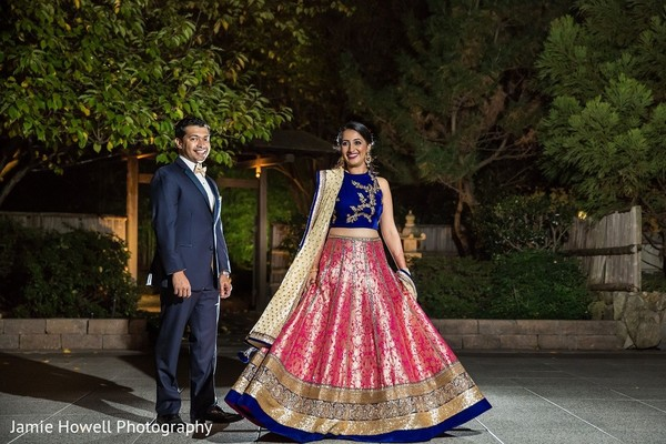 Reception Portrait in Atlanta, GA Indian Fusion Wedding by Jamie Howell Photography