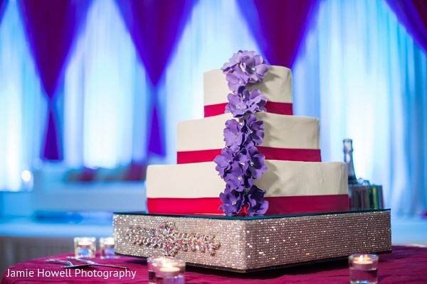 Wedding Cake in Atlanta, GA Indian Fusion Wedding by Jamie Howell Photography