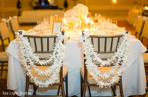 Floral & Decor in Kauai, HI Indian Destination Wedding by Sea Light Studios