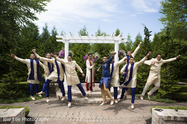 Groomsmen Portraits in Freehold, NJ Indian Wedding by Joie Elie Photography & Cinematography