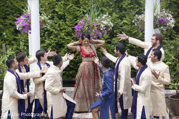 Bridal Party Portraits in Freehold, NJ Indian Wedding by Joie Elie Photography & Cinematography