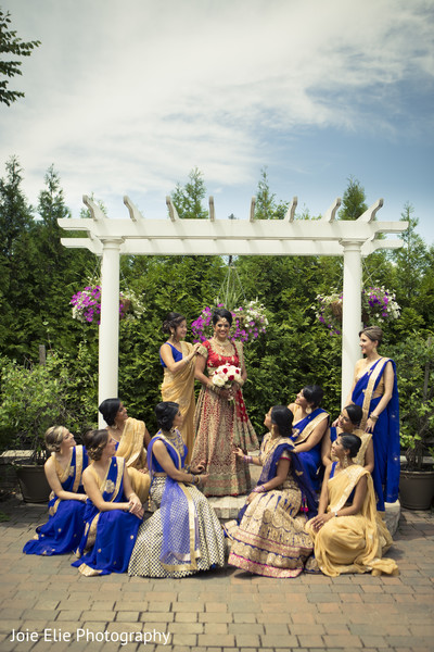 Bridesmaids Portraits in Freehold, NJ Indian Wedding by Joie Elie Photography & Cinematography