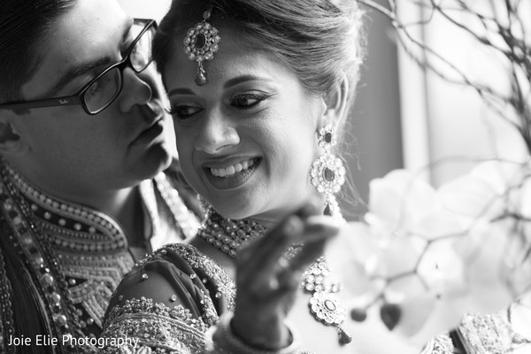 First Look Portraits in Freehold, NJ Indian Wedding by Joie Elie Photography & Cinematography