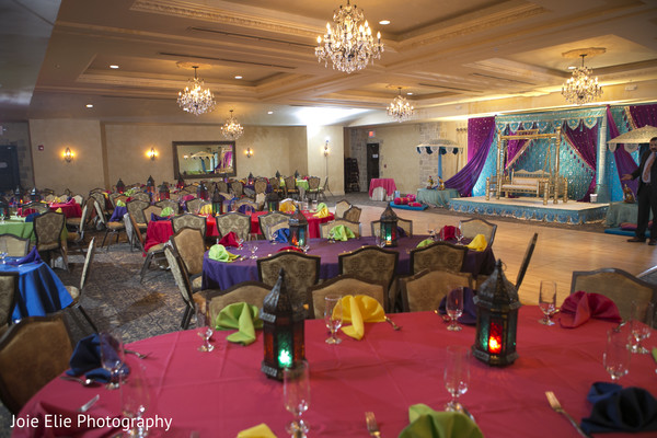 Sangeet Decor in Freehold, NJ Indian Wedding by Joie Elie Photography & Cinematography