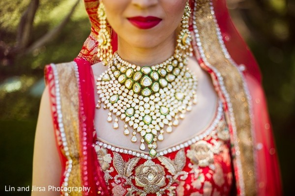 Bridal Jewelry in Dana Point, CA Indian Wedding by Lin & Jirsa Photography