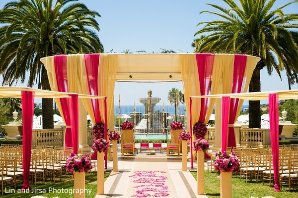Mandap in Dana Point, CA Indian Wedding by Lin & Jirsa Photography