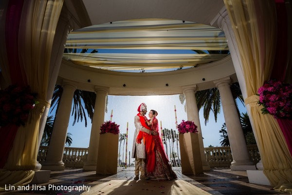 Wedding Portrait in Dana Point, CA Indian Wedding by Lin & Jirsa Photography
