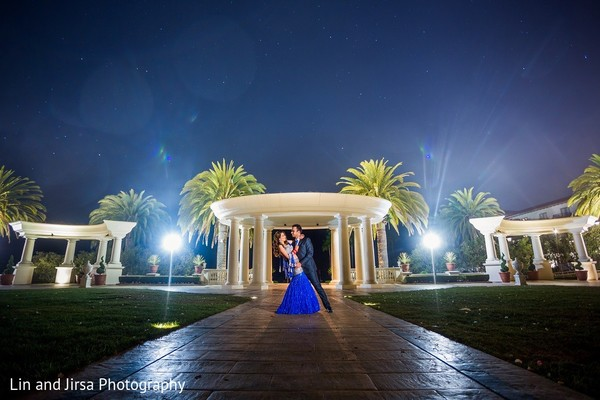 Reception Portrait in Dana Point, CA Indian Wedding by Lin & Jirsa Photography