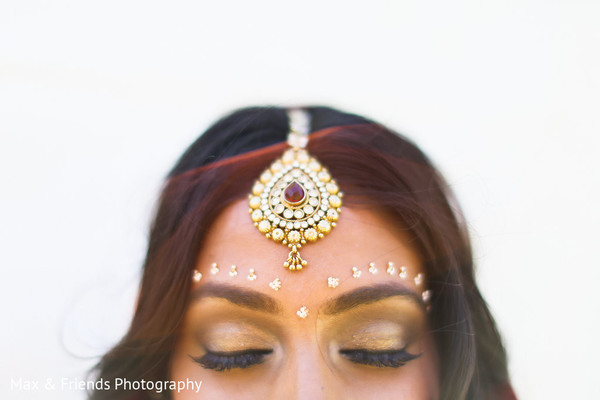Bridal Jewelry in Malibu, CA Indian Wedding by Max & Friends Photography