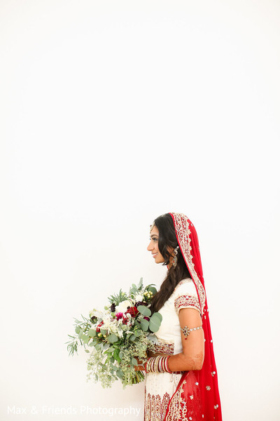 Bridal Portrait in Malibu, CA Indian Wedding by Max & Friends Photography