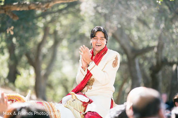 Baraat in Malibu, CA Indian Wedding by Max & Friends Photography
