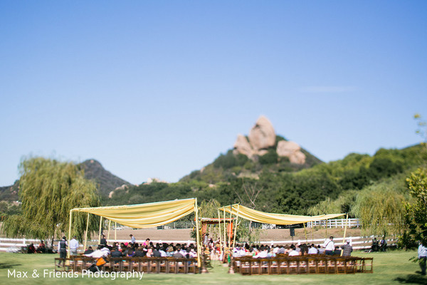 Venue in Malibu, CA Indian Wedding by Max & Friends Photography