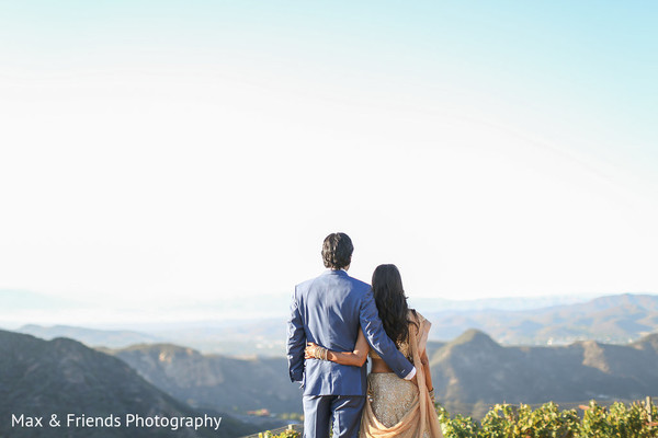 Reception in Malibu, CA Indian Wedding by Max & Friends Photography
